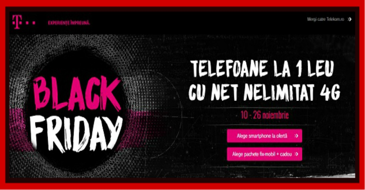 Telekom Black Friday 2016: profita de reduceri