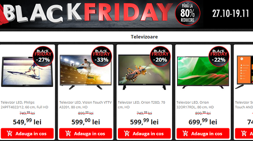 televizoare de Black Friday 2017 la Flanco
